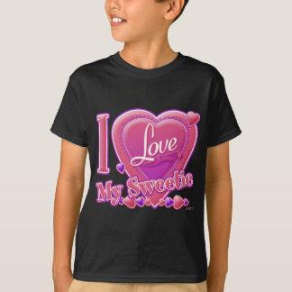 I Love My Sweetie pink/purple - heart T-Shirt