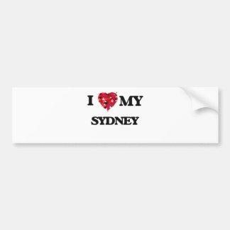 I love my Sydney Bumper Sticker
