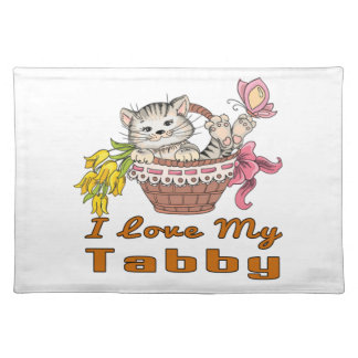 I Love My Tabby Placemat
