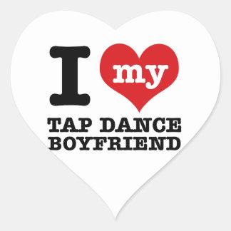 I love my Tap Dance Boyfriend Heart Sticker