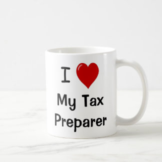 I Love My Tax Preparer / Loves Me Coffee Mug