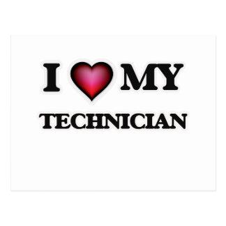 I love my Technician Postcard