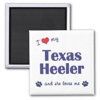 I Love My Texas Heeler (Female Dog) Magnet