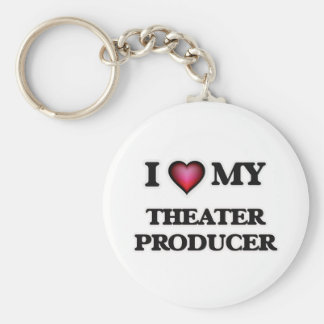I love my Theater Producer Basic Round Button Keychain