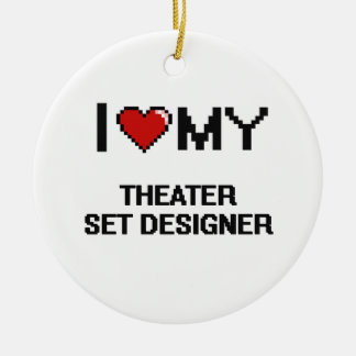 I love my Theater Set Designer Double-Sided Ceramic Round Christmas Ornament