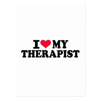 I love my Therapist Postcard