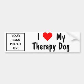 I Love My Therapy Dog Bumper Sticker