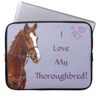 I Love My Thoroughbred Horse Laptop Bag