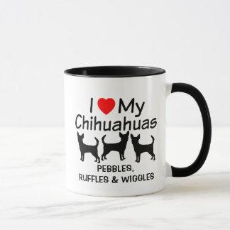 I Love My Three Chihuahua Dogs Mug