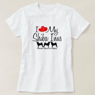 I Love My Three Shiba Inu Dogs T-Shirt