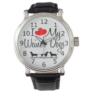 I Love My Three Weiner Dogs Watch