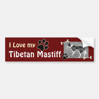I love my Tibetan Mastiff Bumper Sticker