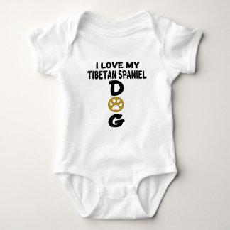 I Love My Tibetan Spaniel Dog Designs Baby Bodysuit