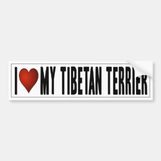 I Love My Tibetan Terrier Bumper Sticker