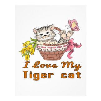 I Love My Tiger cat Letterhead