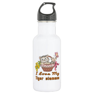 I Love My Tiger siamese 532 Ml Water Bottle