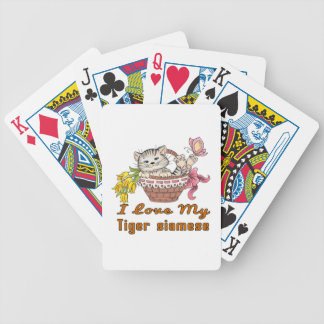 I Love My Tiger siamese Bicycle Playing Cards