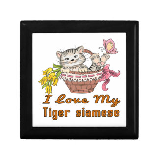I Love My Tiger siamese Gift Box