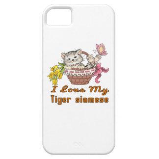 I Love My Tiger siamese iPhone 5 Case
