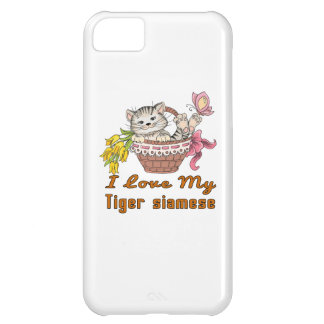 I Love My Tiger siamese iPhone 5C Cases