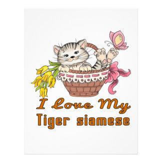 I Love My Tiger siamese Letterhead