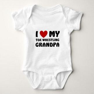 I love my Toe Wrestling Grandpa Baby Bodysuit