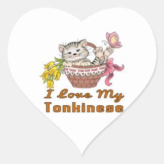 I Love My Tonkinese Heart Sticker