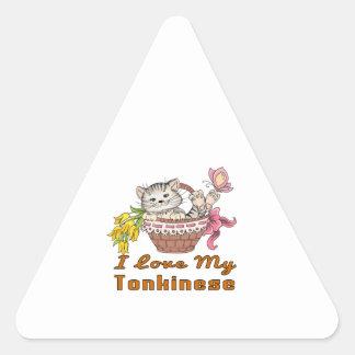 I Love My Tonkinese Triangle Sticker