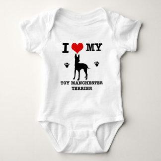 I Love my Toy manchester Terrier Baby Bodysuit