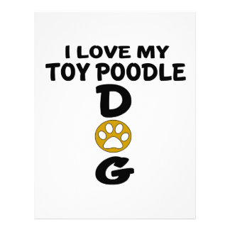 I Love My Toy Poodle Dog Designs Letterhead Template