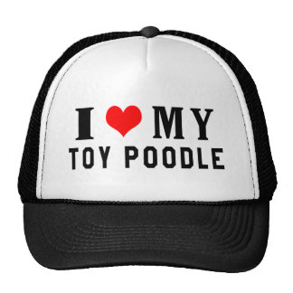 I Love My Toy Poodle Mesh Hat