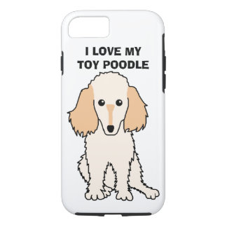 I Love My Toy Poodle Phone Case