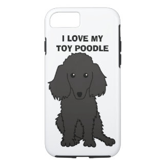 I Love My Toy Poodle Phone Case (Black)