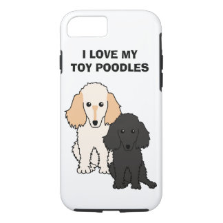 I Love My Toy Poodles Phone Case