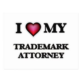 I love my Trademark Attorney Postcard