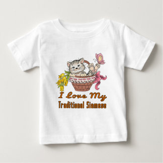 I Love My Traditional Siamese Baby T-Shirt