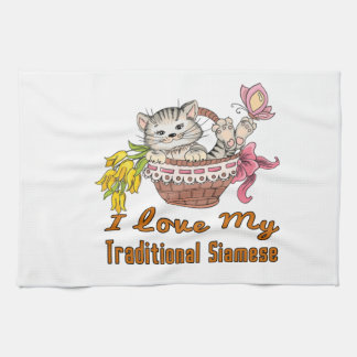 I Love My Traditional Siamese Kitchen Towel