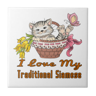 I Love My Traditional Siamese Tile