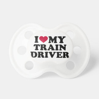 I love my train driver pacifiers