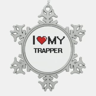 I love my Trapper Snowflake Pewter Christmas Ornament