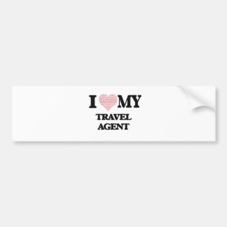I love my Travel Agent (Heart Made from Words) Bumper Sticker