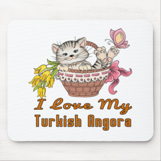 I Love My Turkish Angora Mouse Pad