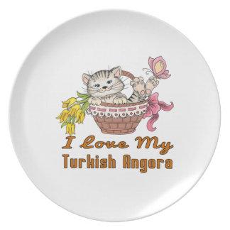 I Love My Turkish Angora Plate