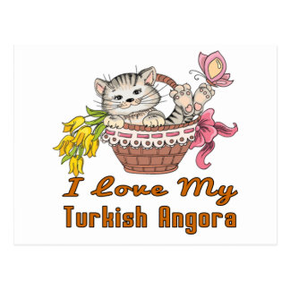 I Love My Turkish Angora Postcard