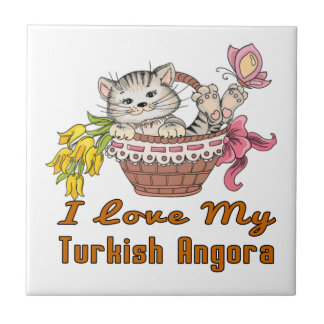 I Love My Turkish Angora Tile