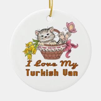 I Love My Turkish Van Ceramic Ornament