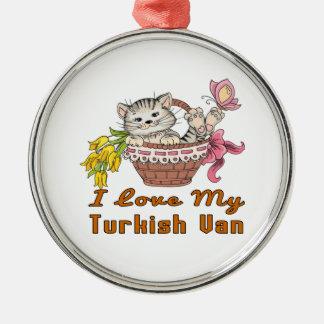 I Love My Turkish Van Metal Ornament