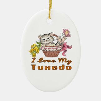 I Love My Tuxedo Ceramic Ornament