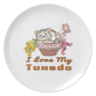 I Love My Tuxedo Plate