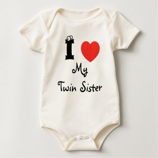 I love my twin for the shirt. baby bodysuit
